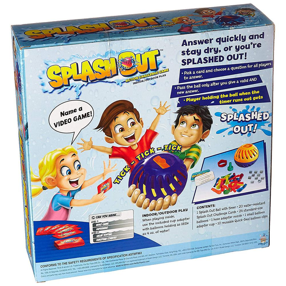 Kuulee Ball Game Splash Out Game Multicolor ABS Splash Out Is An Action-packed Extreme Outcome Game Balloon
