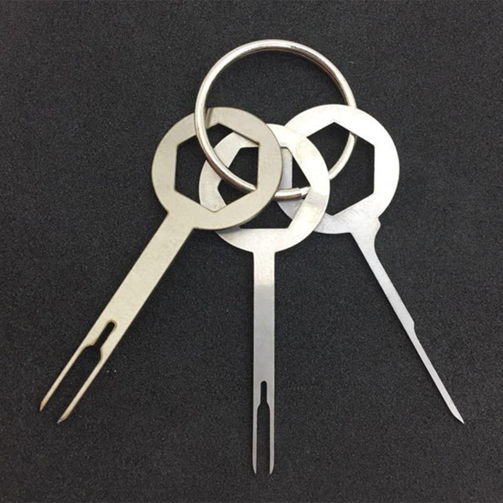 Металлический цветной заглушка ключ терминал инструменты для удаления портативный ручной инструмент набор провода соединения обжимной faston разъем прочный практичный - Цвет: 3 piece