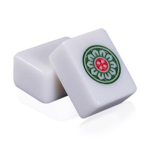 Image 1 - Cor jade branco 40mm ou 42mm padrão chinês mahjong 144 peças telhas jogo conjunto completo na mesa