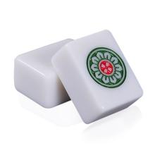 Juego completo de fichas de Jade de 40mm o 42mm, juego de fichas de Mahjong estándar Chino, 144 Uds., color blanco
