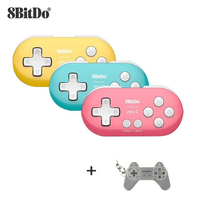 8BitDo Zero 2 Bluetooth Gamepad Mini Controller Compatible for Nintendo Switch Windows Android macOS