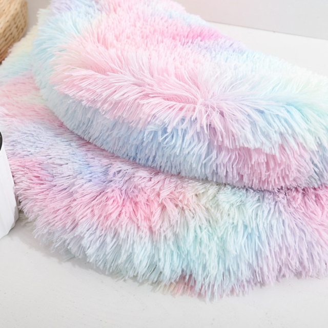 Pet Cat Dog Nest Dual Use Warm Soft Sleeping Bed  4