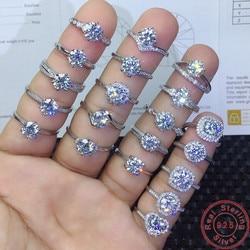 40 Styles 925 en argent Sterling diamant Cz bague promesse fiançailles bague de mariage anneaux pour les femmes de mariée pierres précieuses bijoux de fête