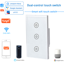 Dual-Control-Switch WIFI Remote Smart-Touch 220V 2-Way 110V Open-Support APP AC Us-Standard