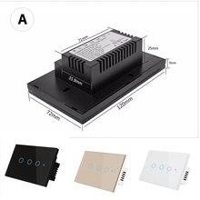 цена на Touch Wall Light RF Wifi Control Switch Remote White 3 Gang Single Live Wire US/EU Smart Switch  Smart Home Work By Google Alexa