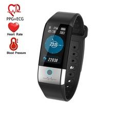 ONEVAN X1 smart watch ekg + PPG HRV tętna Monitor ciśnienia krwi mężczyźni aktywny Tracker z wtyczką USB kobiet bransoletka fitness tanie tanio Passometer Fitness tracker Uśpienia tracker Wiadomość przypomnienie Przypomnienie połączeń Ciśnienie krwi Social Media Powiadomienia