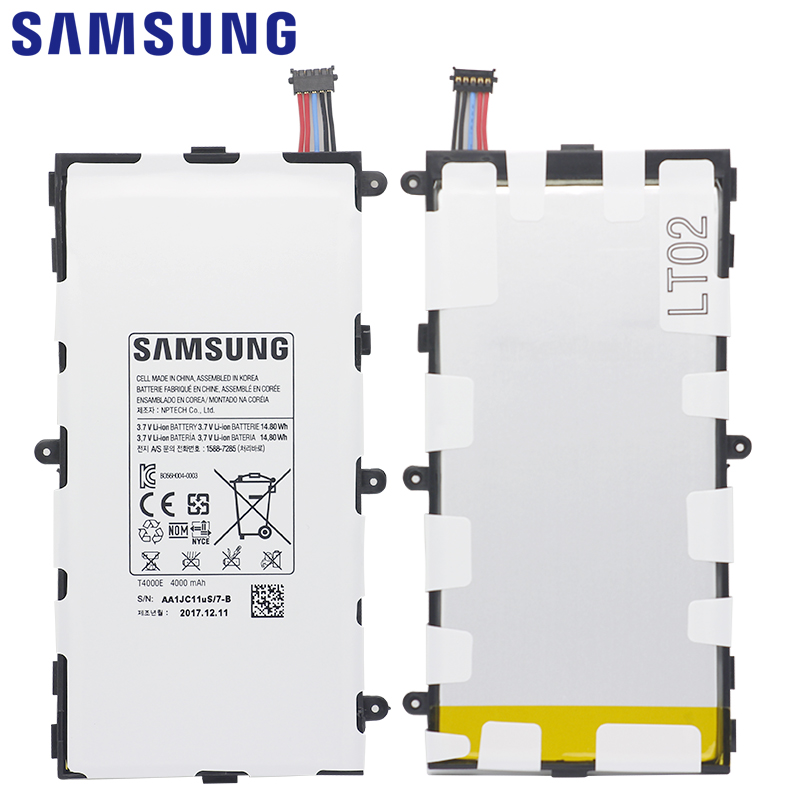 Image 4 - SAMSUNG Original Battery T4000E 4000mAh For Samsung Galaxy Tab 3 7.0 T211 T210 T215 T210R T217A SM T210R T2105 P3210 P3200-in Mobile Phone Batteries from Cellphones & Telecommunications on