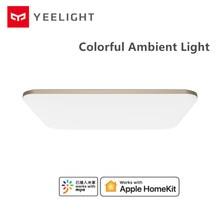 2020 yeni YEELIGHT 50W akıllı LED tavan ışıkları renkli ortam işığı Homekit akıllı APP kontrol AC 220V oturma odası