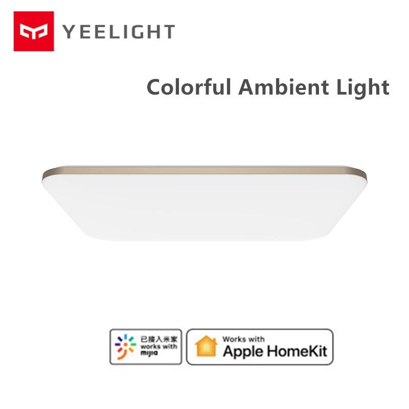 Xiaomi Mijia YEELIGHT 50W Smart LED Ceiling Lights Colorful Ambient Light Homekit Mijia APP Control AC 220V For Living Room