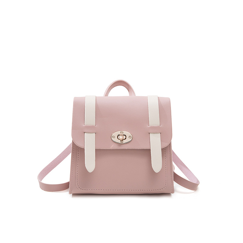 Cover-Style Contrasting Color Small Backpack 2020 Student Daily Travel All-match Small Bag luxury handbags women bags designer