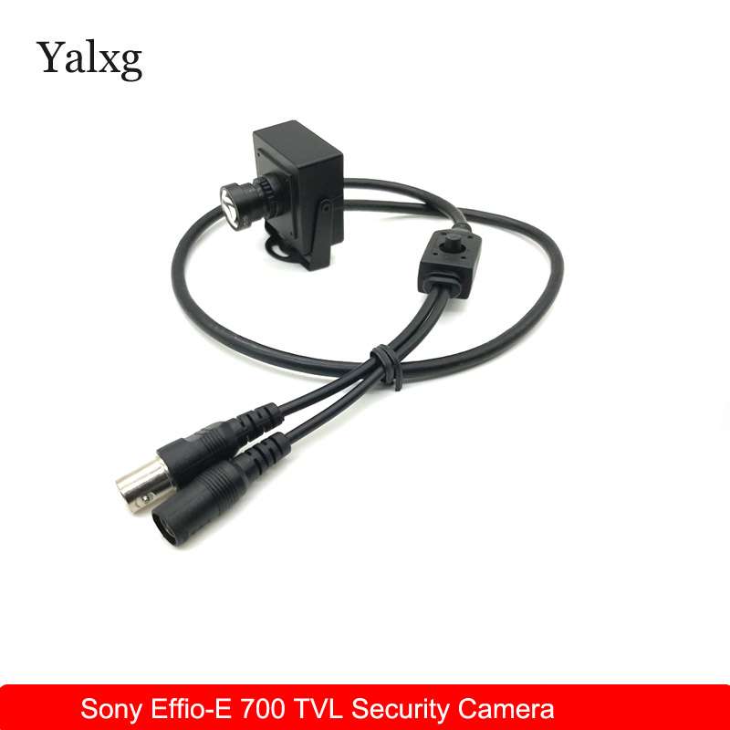 New Arrival CCTV Mini Overtaking Car Camera High Resolution Sony CCD Effio-E 700TVL 25mm Lens Security Box Color Wired CCTV Cam