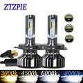 ZTZPIE 20000LM 110 Вт 4500 к 6000 К 8000 к 3000 К HB3 HB4 9005 9006 H3 H1 H8 H7 H4 H11 H9 9012 Turbo Canbus Светодиодные Автомобильные фары CSP чип