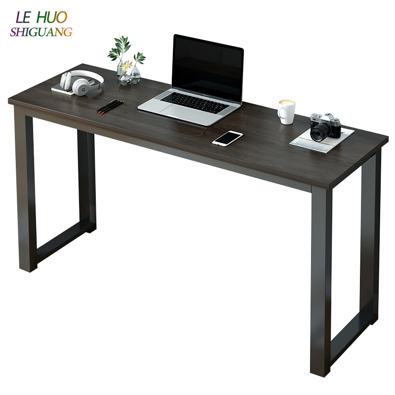 Us 81 08 49 Off Nordic Wooden Laptop Table Mobile Computer Office Desk Living Room Entrance Long Fashion Furniture In Desks From