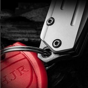 Image 5 - KESIWO couteaux pliants mini D2, petit anneau à clé, couteau de poche de survie, à clapet, sauvetage multi pêche, EDC outils à main