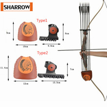 Archery Arrow Pot Quick Quiver Holder Portable Release Arrows Recurve Bow Longbow Leather Outdoor Shooting Hunting Accessories