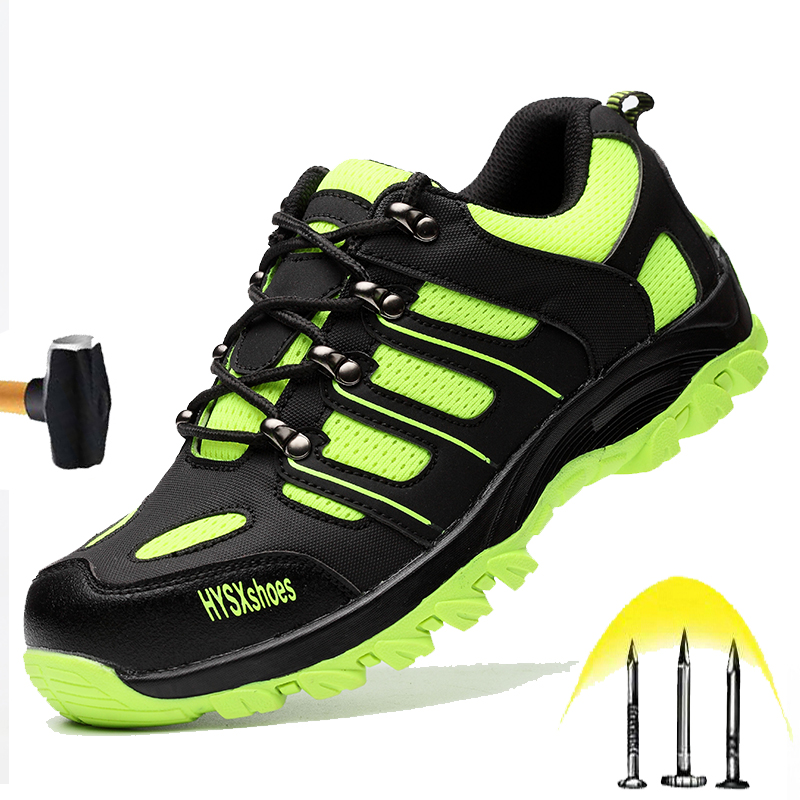 New High Quality Safety Shoes 2020 Men's Lightweight Breathable Anti-Puncture Work Shoes Anti-smashing Steel Head Construction Boots