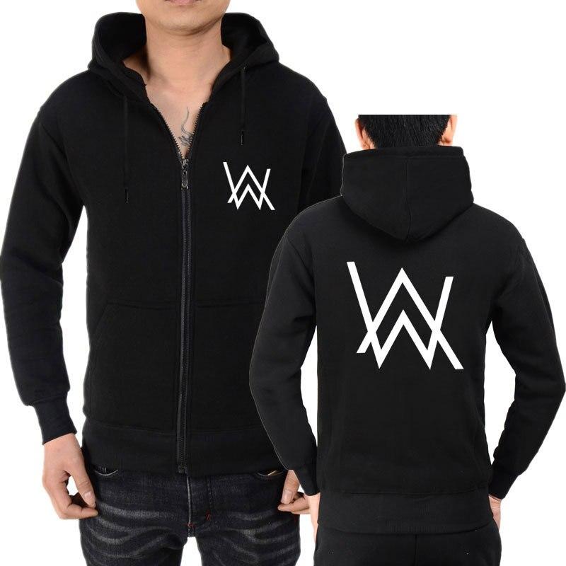 Hot Sales Alan Walker Zipper Hoodie Sweatshirt Men And Women CAT Wave Zipper Hoodie Coat