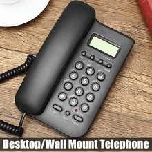Телефон с проводом с идентификатором звонящего отеля Домашний Настольный настенный телефон офисный стационарный телефон FSK/DTMF звонящие системы Черный