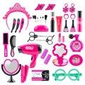 36Pcs Kinder Pretend Play Simulation Make-Up Friseur Spielzeug Gehirn-Ausbildung Spielzeug Für Kinder Pädagogisches Spielzeug Geburtstag Geschenk