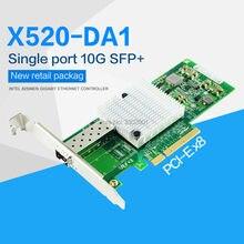 10Gb PCI-E NIC сетевая карта Intel 82599EN чипсет для X520-DA1 конвергентный сетевой адаптер (NIC) один SFP + порт, PCI Express X8
