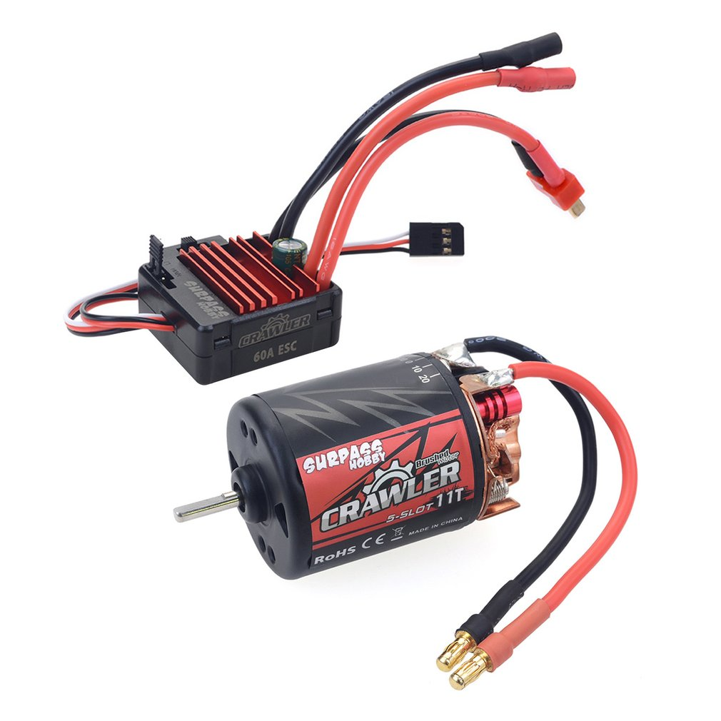 SURPASSHOBBY 540 Carbon Brushed Motor 11T/13T/16T/20T and 60A <font><b>Electronic</b></font> Speed Controller Set for RC <font><b>Car</b></font> and Truck Crawler image