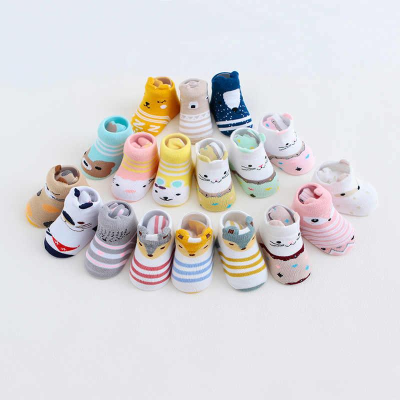 Nan tong House Baby Socks Autumn And Winter Dispensing Anti-slip Lining BABY'S Socks Cartoon Newborns Socks 0-1-3-Year-Old
