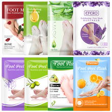 8Pair Exfoliating Foot Mask Moisturizing Smooth Foot Patches Dead Skin Whitening Feet Peeling Mask Spa Pedicure Socks Peel Patch