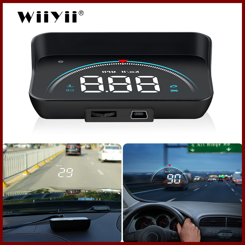GEYIREN M8 Car HUD Head Up Display OBD2 II EUOBD Overspeed Warning System Projector Windshield Auto Electronic Voltage Alarm(China)