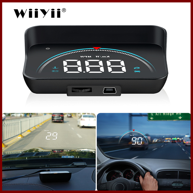 GEYIREN M8 araba HUD Head Up Display OBD2 II EUOBD aşırı hız uyarı sistemi projektörü cam otomatik elektronik voltaj alarmı