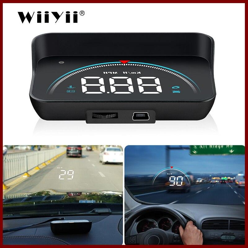 GEYIREN M8 voiture HUD tête haute affichage OBD2 II EUOBD système d'avertissement de survitesse projecteur pare-brise Auto électronique alarme de tension