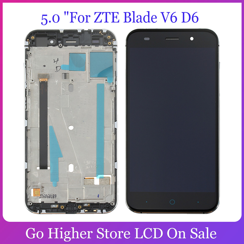 5.0 For ZTE Blade V6 D6 Z7 X7 T660 T663 LCD Display + Touch Screen Digitizer Panel Replacement with Frame image