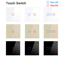AoYan Touch Switch EU standard 1 2 3 Gang 1 Way Black/Gold/White Wall Light Touch Screen Switch Crystal Glass Switch Panel minitiger eu standard wall ligth touch switch 1 2 3 gang 2 way control touch screen switch crystal glass panel 220 250v