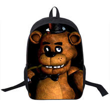 Anime cartoon five nights in Freddy's backpack boys girls school bags for men laptop backpacks children FANF laptop backpack(China)