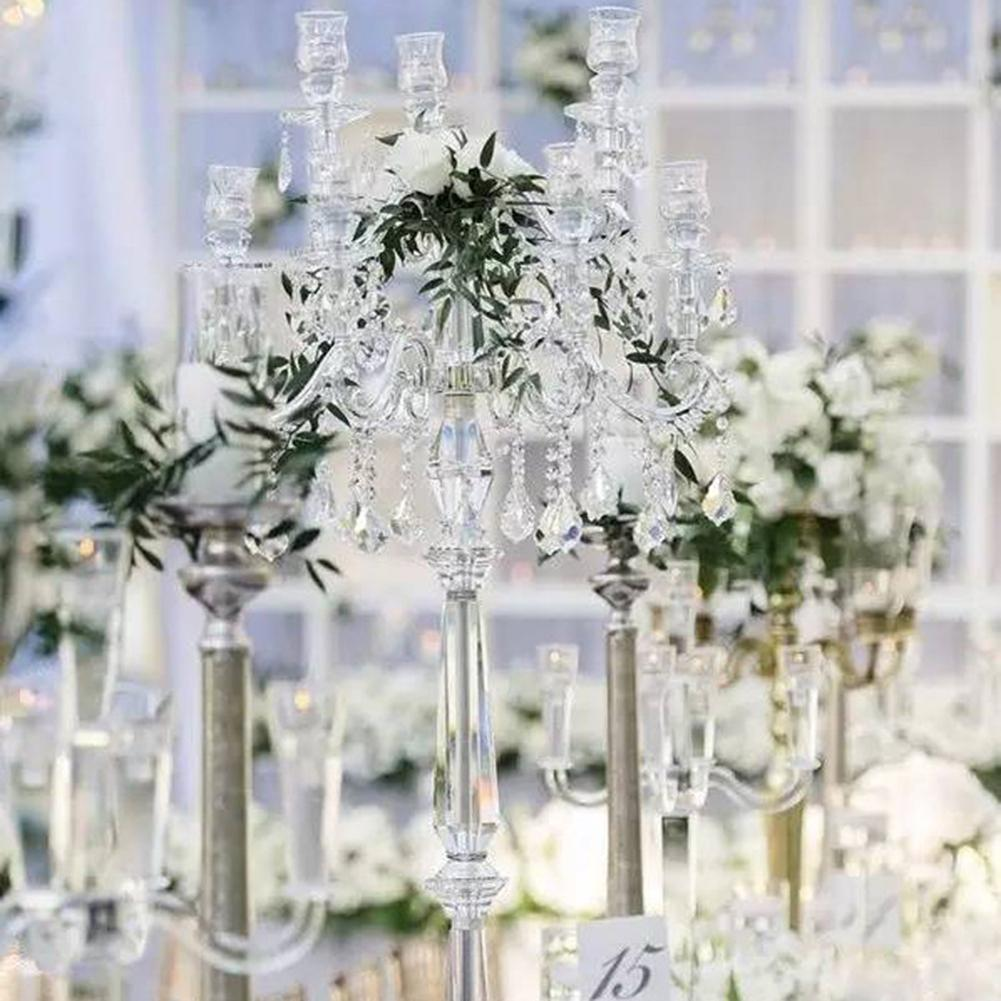 2Pcs Faux Crystal Heart Drop Hanging Pendant DIY Wedding Chandelier Lamp Decor  Decorating Wedding Holiday Party Or Other Places