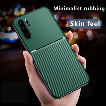 Luxury Silicone Car Magnetic Holder Phone Case For Huawei P40 P30 P20 Lite Mate 30 20 10 Pro Nova Y9 Ultra-thin Protection Cover image