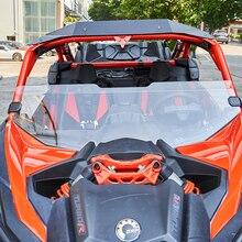 KEMIMOTO parabrisas delantero para coche, protector de viento de 1/2 pulgadas, para Can Am Maverick X3 XRS XDS Turbo R MAX 49,2 2017, UTV Half 2021