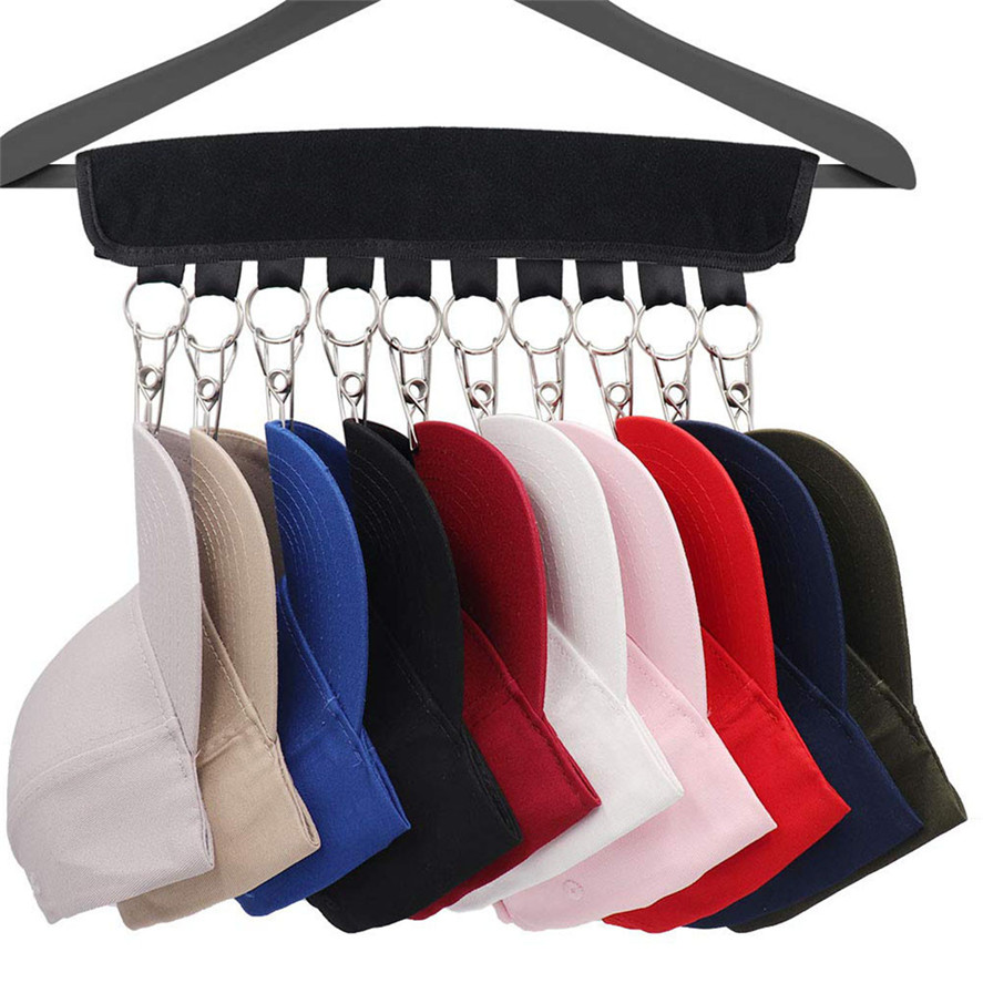 Cap Organizer Hanger 10 Baseball Cap Holder Hat Organizer for Closet