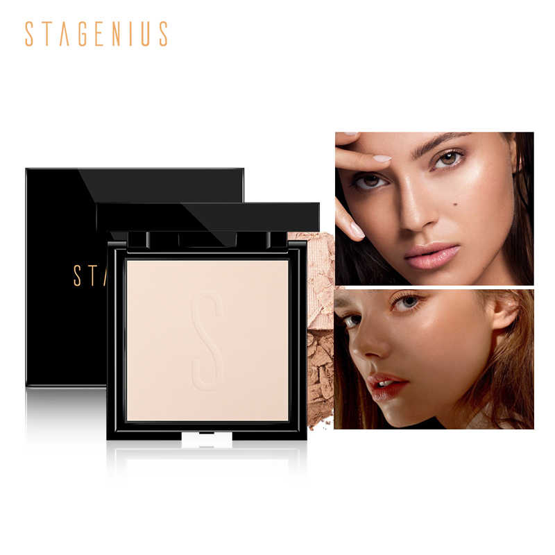 STAGENIUS Professional Bronzer Highlighter Powder Face Makeup Palette Contouring ใบหน้า Pressed Powder