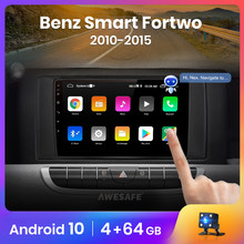 AWESAFE Voice Control PX9 Auto Radio für Mercedes Benz Smart Fortwo 2010 - 2015 Multimedia Player 2Din Android 10 Autoradio GPS