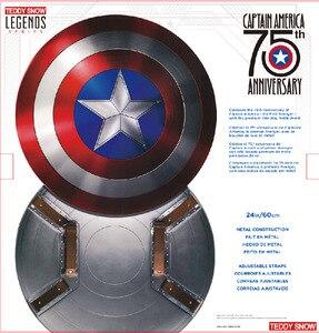 Image 2 - 60CM capitaine amérique bouclier 1:1 Steve Rogers aluminium métal bouclier film Cosplay Halloween cadeau/accessoire
