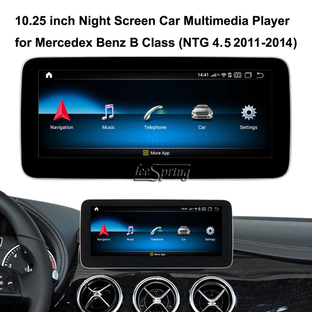 <font><b>10.25</b></font> inch Touch Screen Android 9.0 Car Multimedia Player for <font><b>Mercedes</b></font> Benz B Class <font><b>W246</b></font> 2011-2019 (original car NTG 4.5/5.0) image