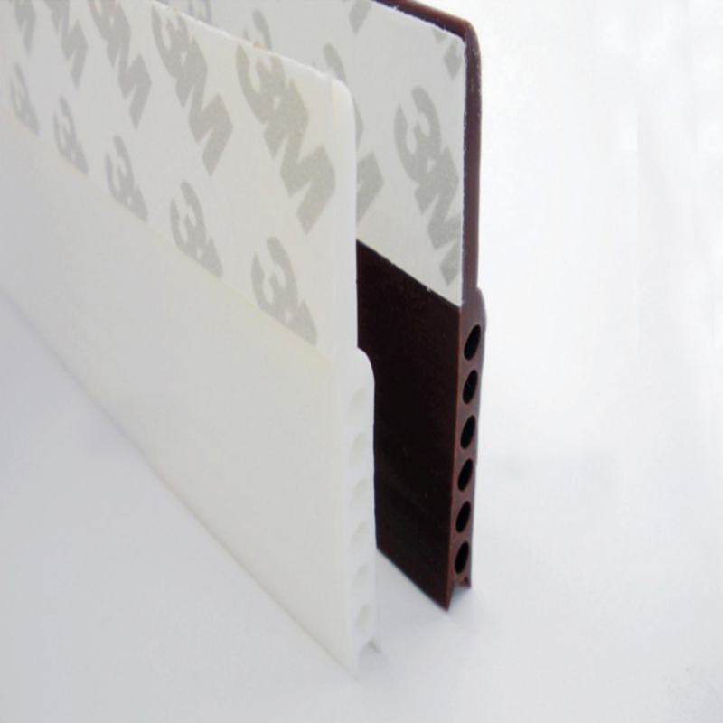 1 Pcs Self Adhesive Silicone Bottom Door Window Tape 3m Rubber Sealing Strip Weatherstriping Sound Insulation