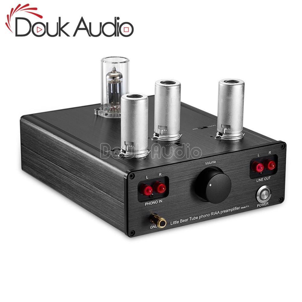 Douk Audio Little Bear T11 6N2/12AX7 Vacuum Tube Phono Turntable Preamp HiFi Pre-Amp MM RIAA Phonograph Preamplifier