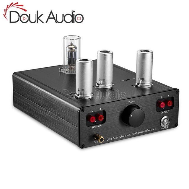 Douk אודיו קטן דוב T11 6N2/12AX7 צינור ואקום Phono פטיפון קדם מגבר HiFi מגבר מראש MM RIAA פטיפון מגבר קדם