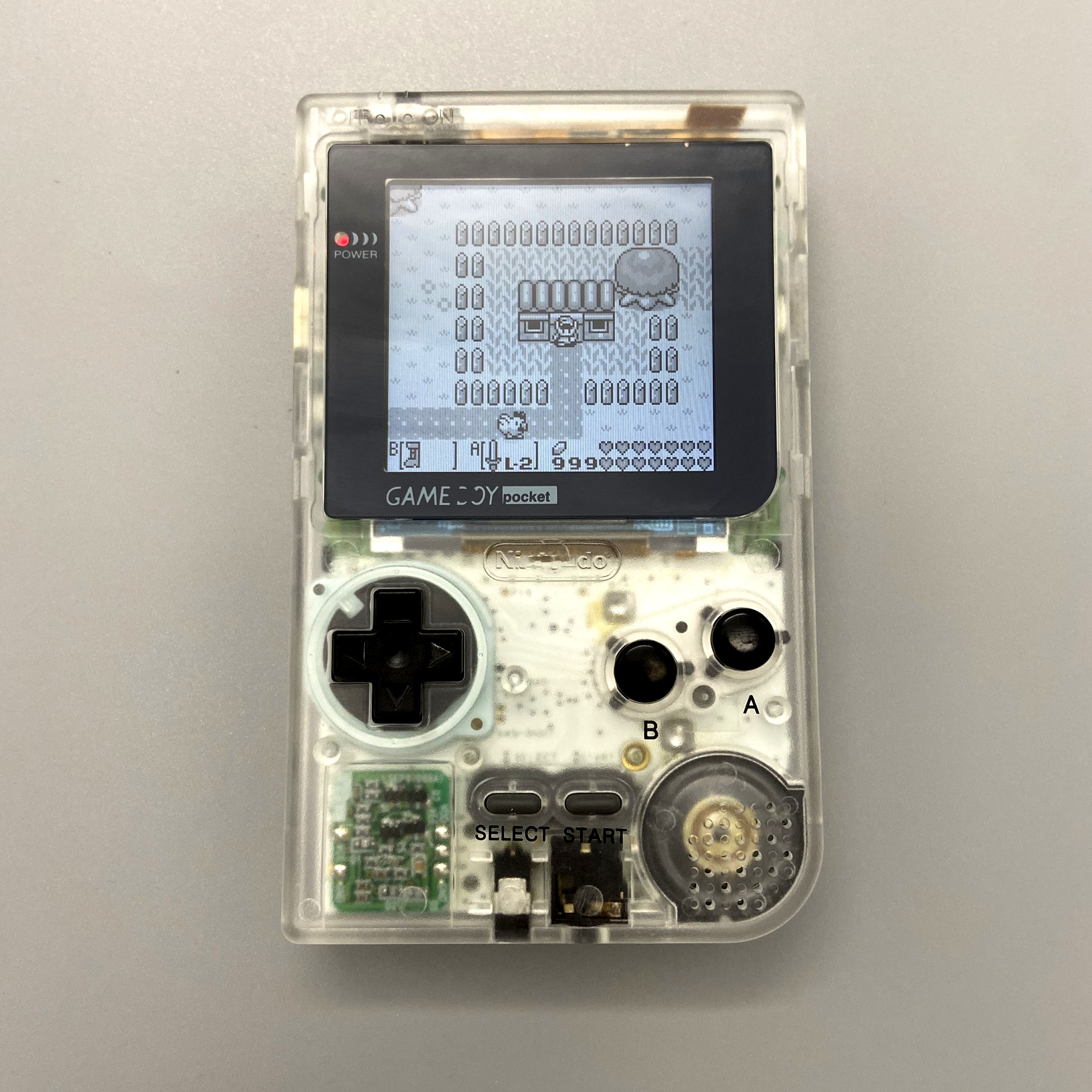 GBP with new shell and 2 6 inches high brightness LCD Professionally Refurbished For Game Boy Pocket