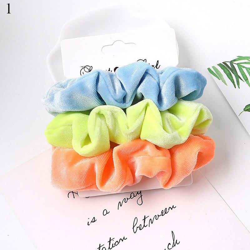 1 комплект резинки для волос кольцо для волос карамельного цвета Веревка для волос осень-зима женский хвостик аксессуары для волос 4-6 шт. ободки для девочек Подарки - Color: A1