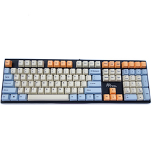 Orange Beige PBT Skyblue Keycaps Dye Sub 108 Key OEM Profile For Cherry MX Switches Of Mechanical Gaming Keyboard Clavier Gamer недорого