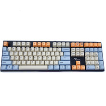 Orange Beige PBT Biru Langit Tombol Pewarna Sub 108 Kunci OEM Profil untuk Cherry MX Switch Mechanical Gaming Keyboard Keyboard gamer(China)