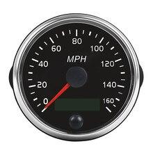 Universal MPH GPS Lcd-computer-geschwindigkeitsmesser-grüne 160MPH für Auto Motorrad Traktor Lkw mit Hintergrundbeleuchtung 85mm 12V/24V