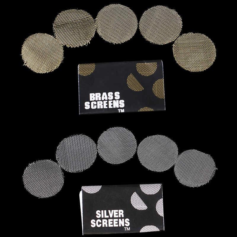 100 pçs multifuncionais filtros de metal narguilé tubulação de água tela gaze tabaco fumar accessorie 20mm prata ouro